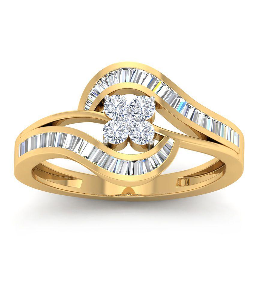 WearYourShine PC Jeweller 18KT Gold The Pravisha Diamond Ring