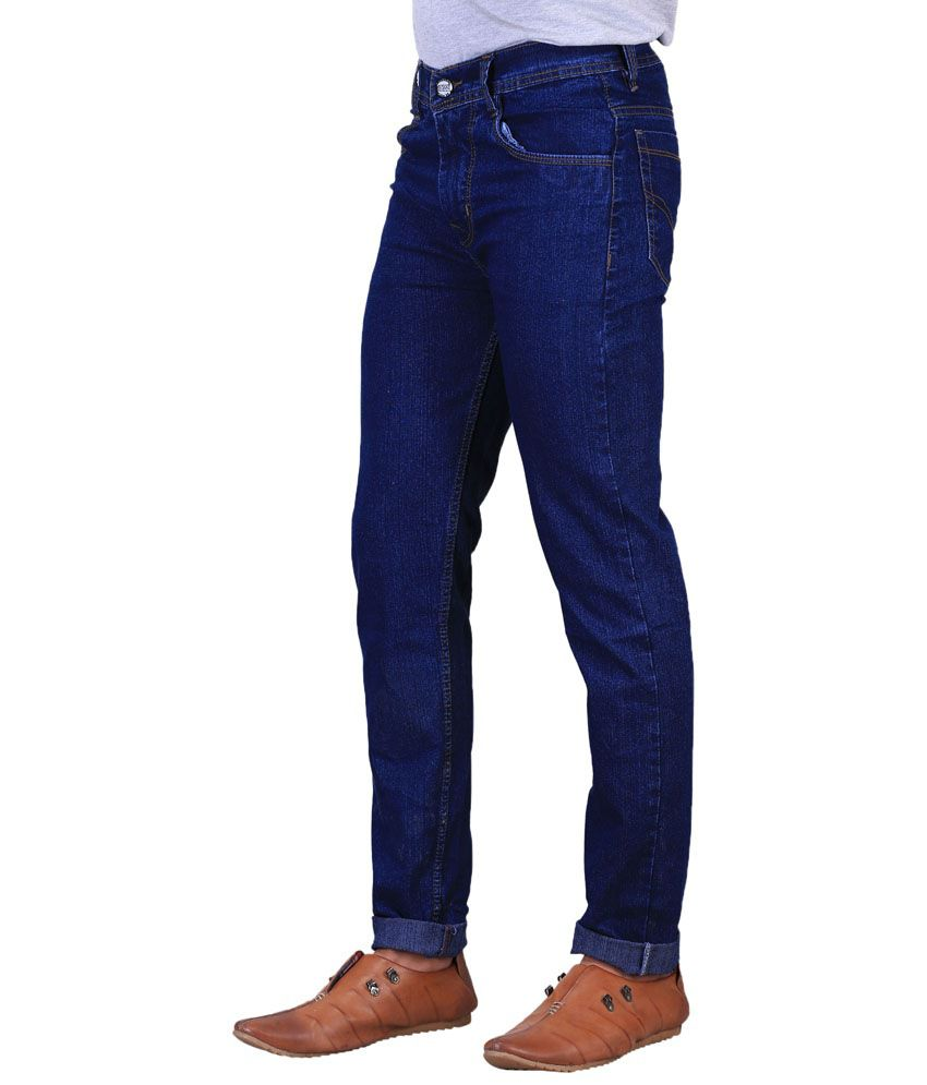 X-Cross Cool Combo Of 4 Blue & Black Jeans For Men - Buy X ...