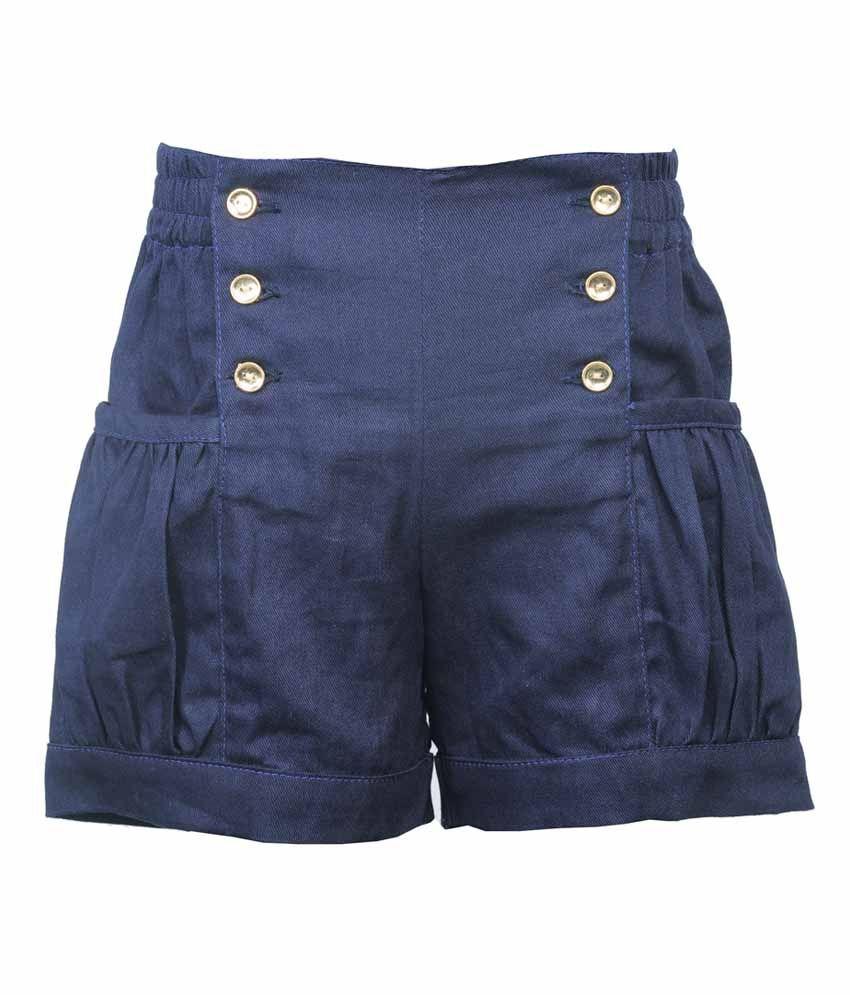 Hugs N Tugs Sky Blue Cotton Checks Short