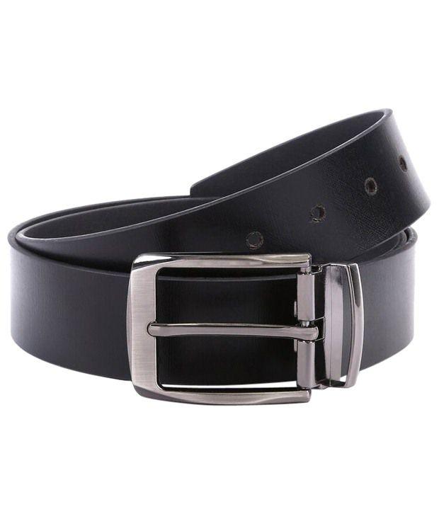 WildHorn Decent Black Formal Belt For Men