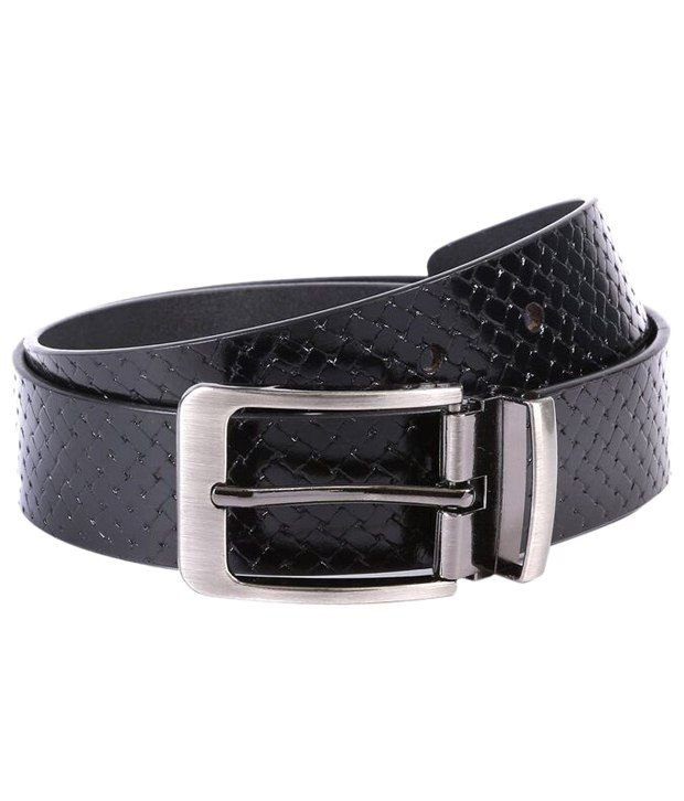 WildHorn Voguish Black Casual Belt For Men