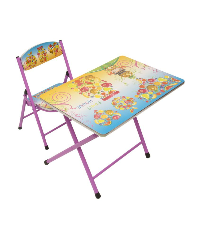 Happy Kids Foldable Study Table And Chair Fruits Buy