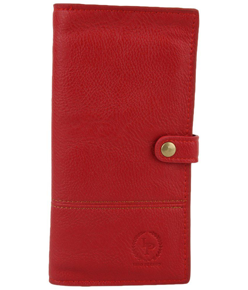 Lino Perros Red Casual Wallet For Women
