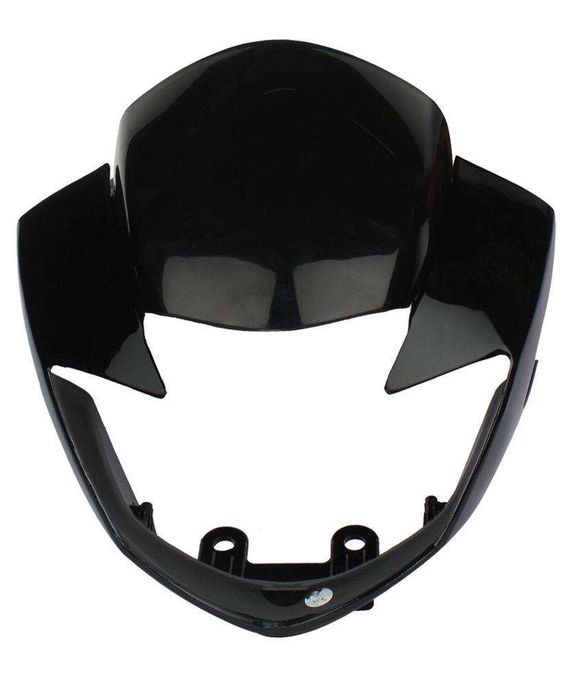 Sai SAI-161 Headlight Visor for TVS Apache RTR 160/180CC (Black