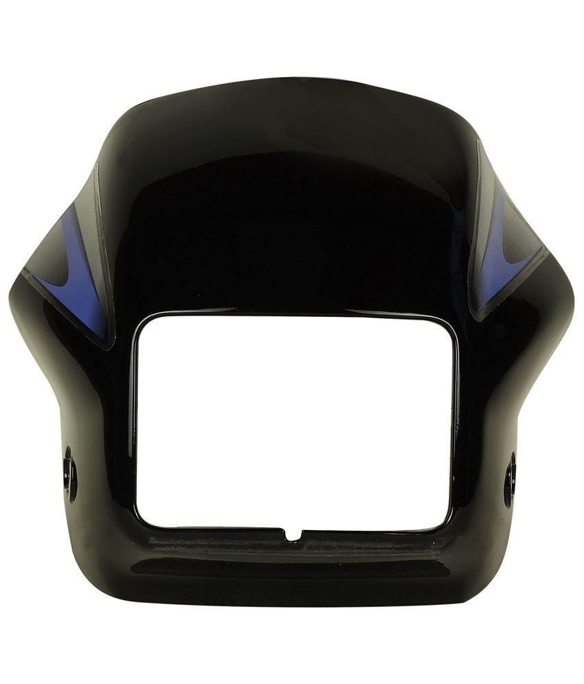 Sai Sai 81 Headlight Visor For Hero Splendor Plus Black