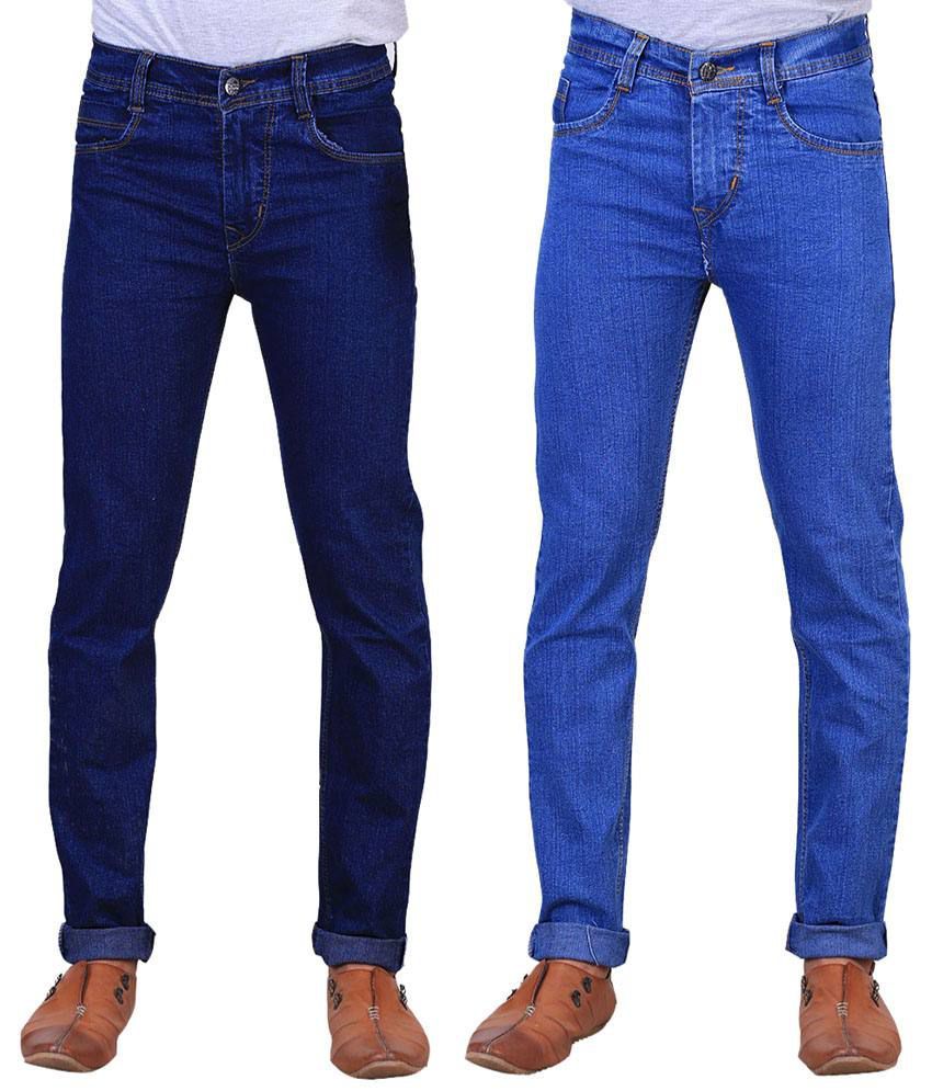 X-Cross Exquisite Combo Of 2 Blue Jeans For Men