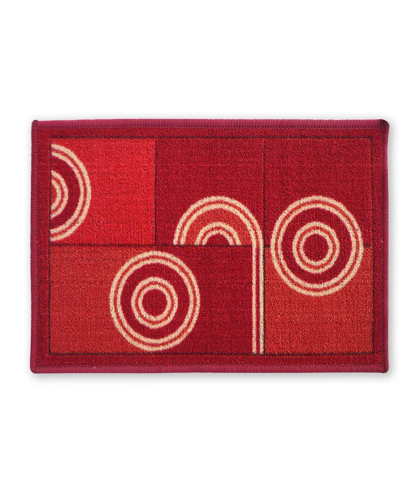 Fantasy Taba Nylon Red Floor Mat
