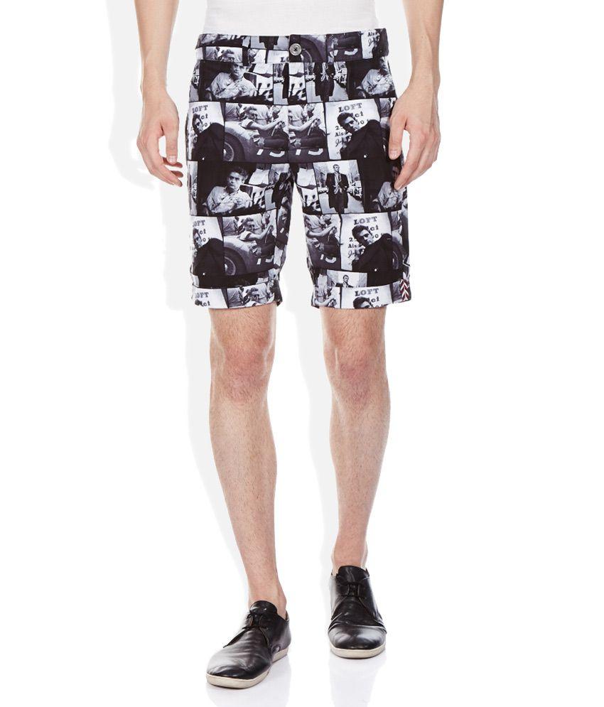 Jack & Jones White Printed Shorts