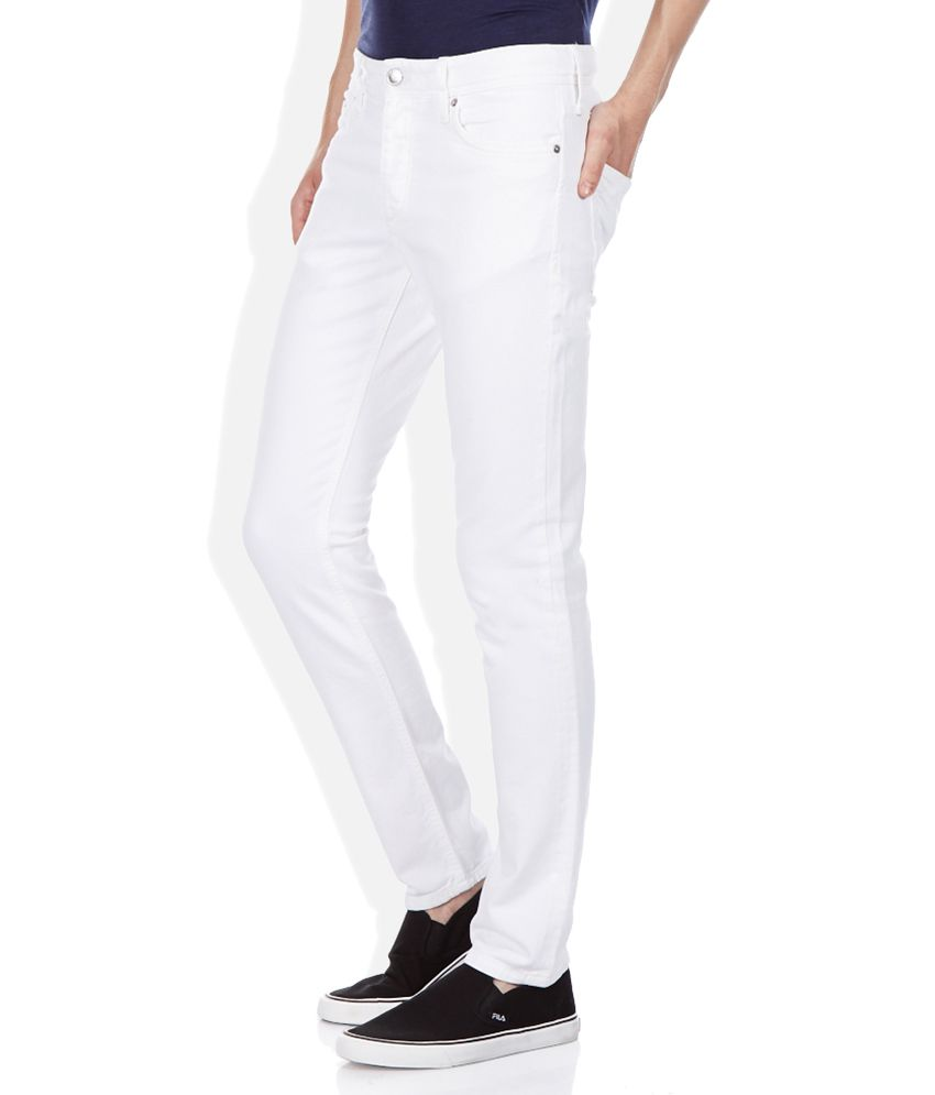 Jack & Jones White Slim Fit Basics Jeans - Buy Jack & Jones White ...