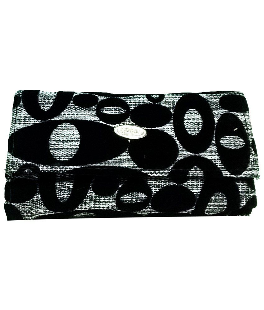Ethnic Art Black Wallet