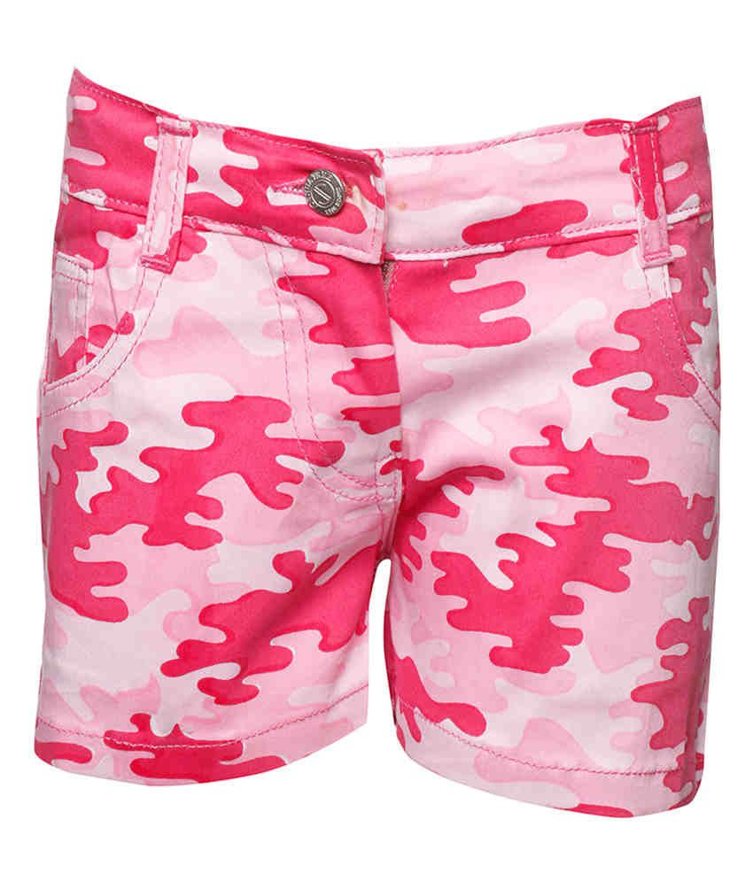 Joshua Tree Pink Cotton Printed Shorts
