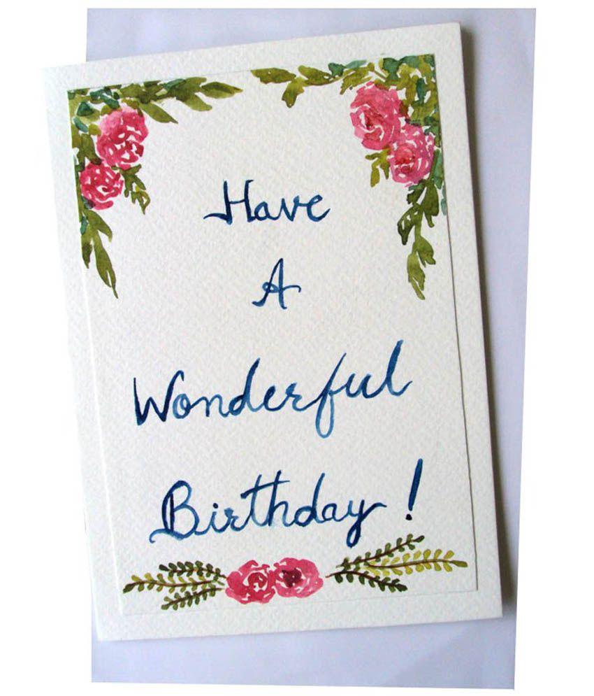 Corner Design Birthday Greeting Card