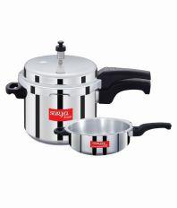 Surya Accent Aluminum Pressure Cooker 5Ltr IB & Pressure Pan Combo