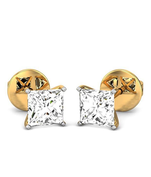 Candere Kerstin Diamond Earring Yellow Gold 18k