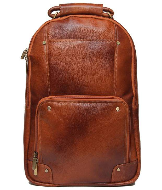 C Comfort Tan Brown Backpack
