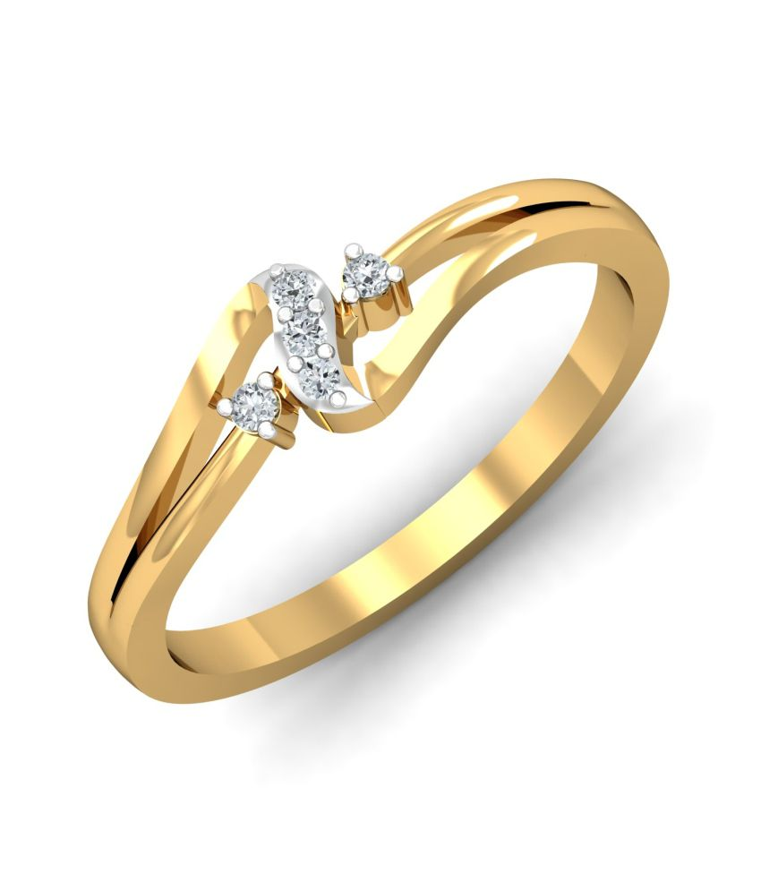 Kamakhya Jewels 18kt Gold Diamond Ring
