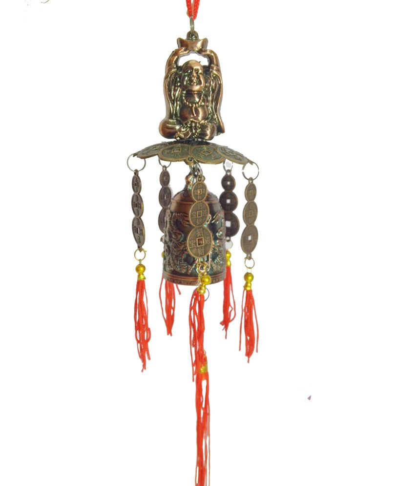 Discount4products Fengshui Pagoda Bell With Laughing Buddha For Good Luck