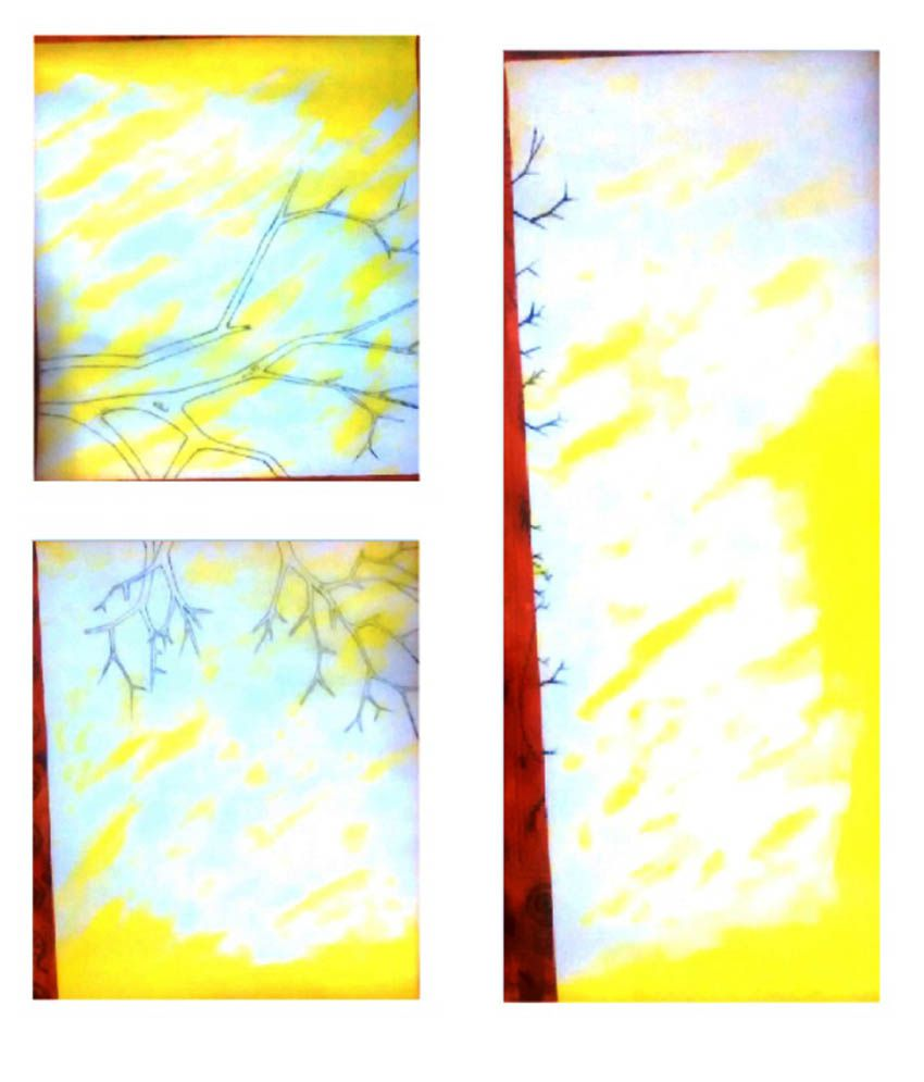 Gopal Arts Yellow Without Frame Landscape Paintings