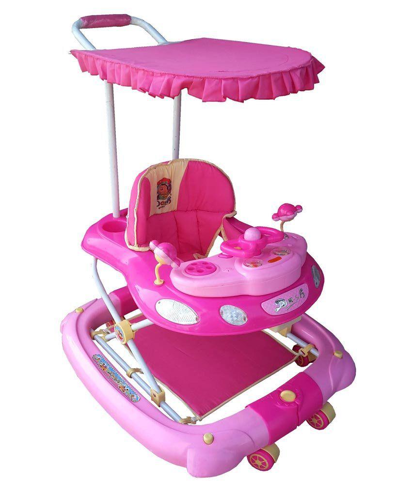 her home luxury musical 7 in 1 baby walker with stroller umbrella buy her home luxury. Black Bedroom Furniture Sets. Home Design Ideas