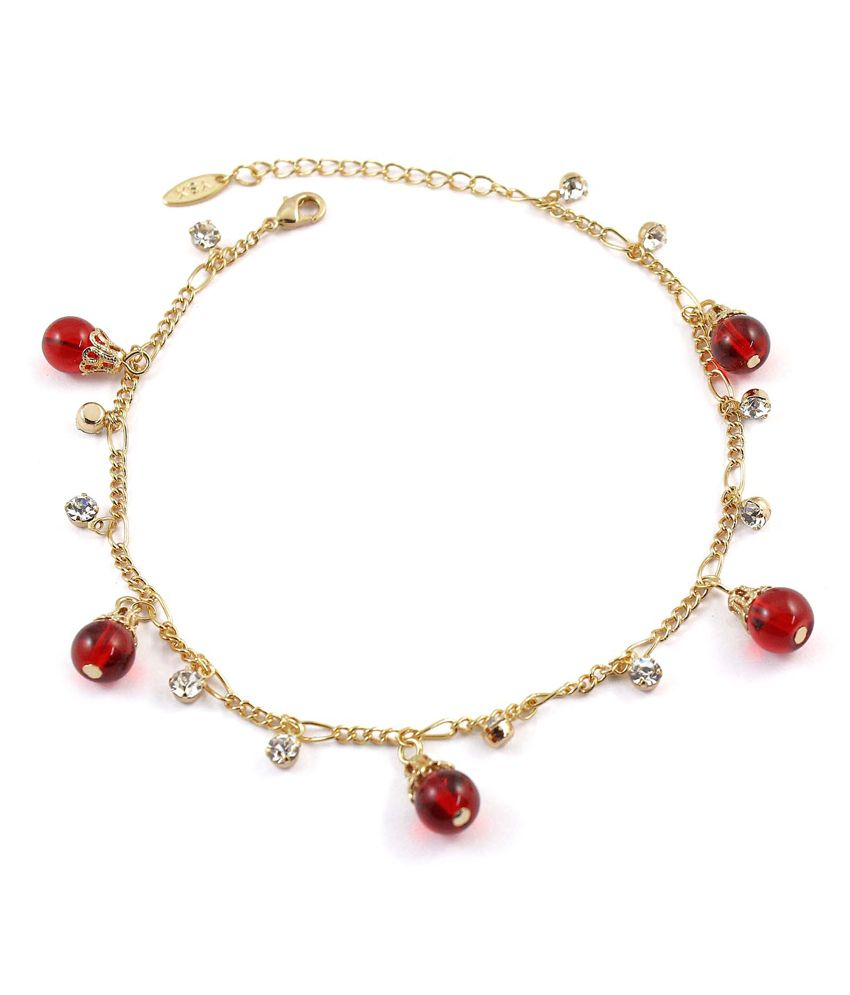 Much More Ethnic Traditional Design Gold Plated Beautiful Anklet/Payal Gift Jewelry