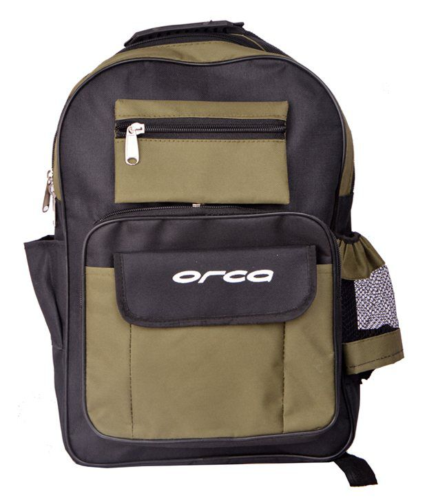 Orca Black & Mehendi College & School Bag  available at snapdeal for Rs.299
