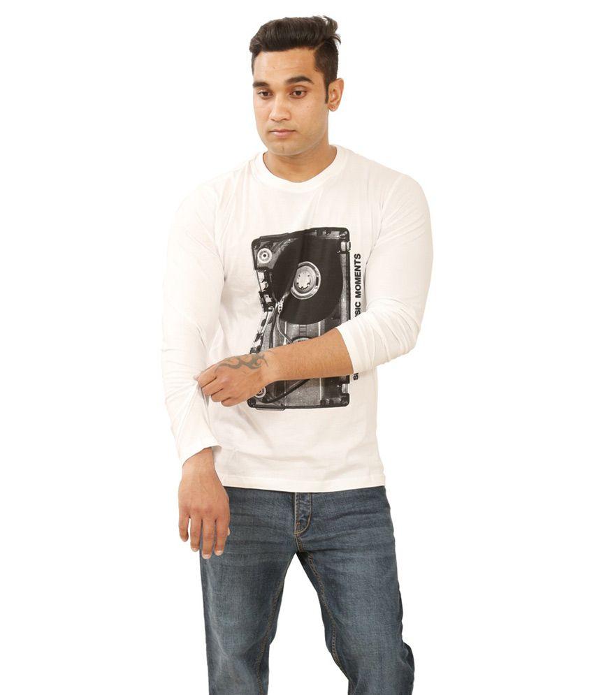 Sportking White Cotton Round T-shirt