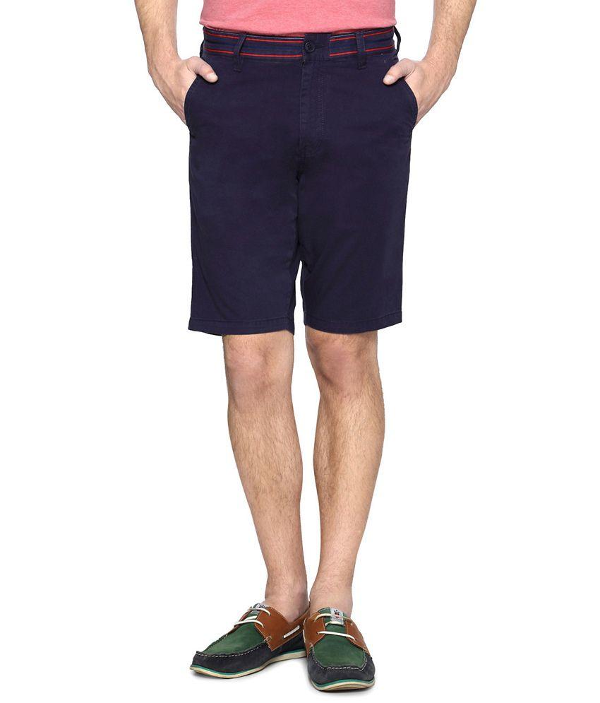 Allen Solly Blue Comfort Fit Shorts