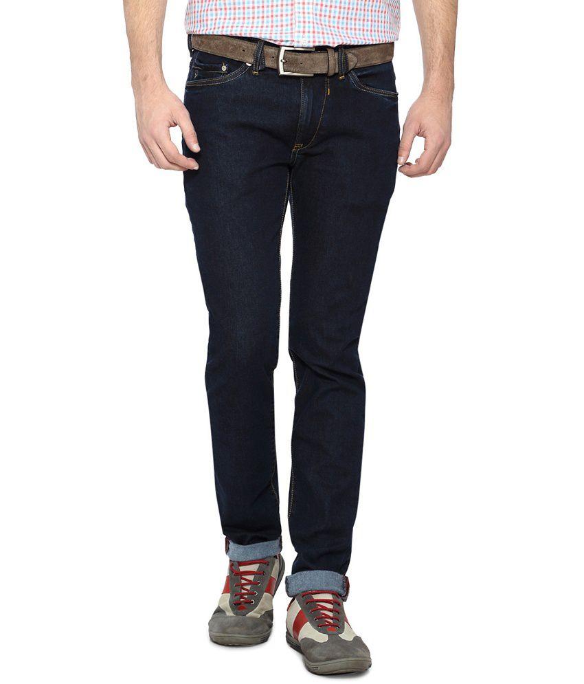 Allen Solly Dark Blue Slim Fit Jeans