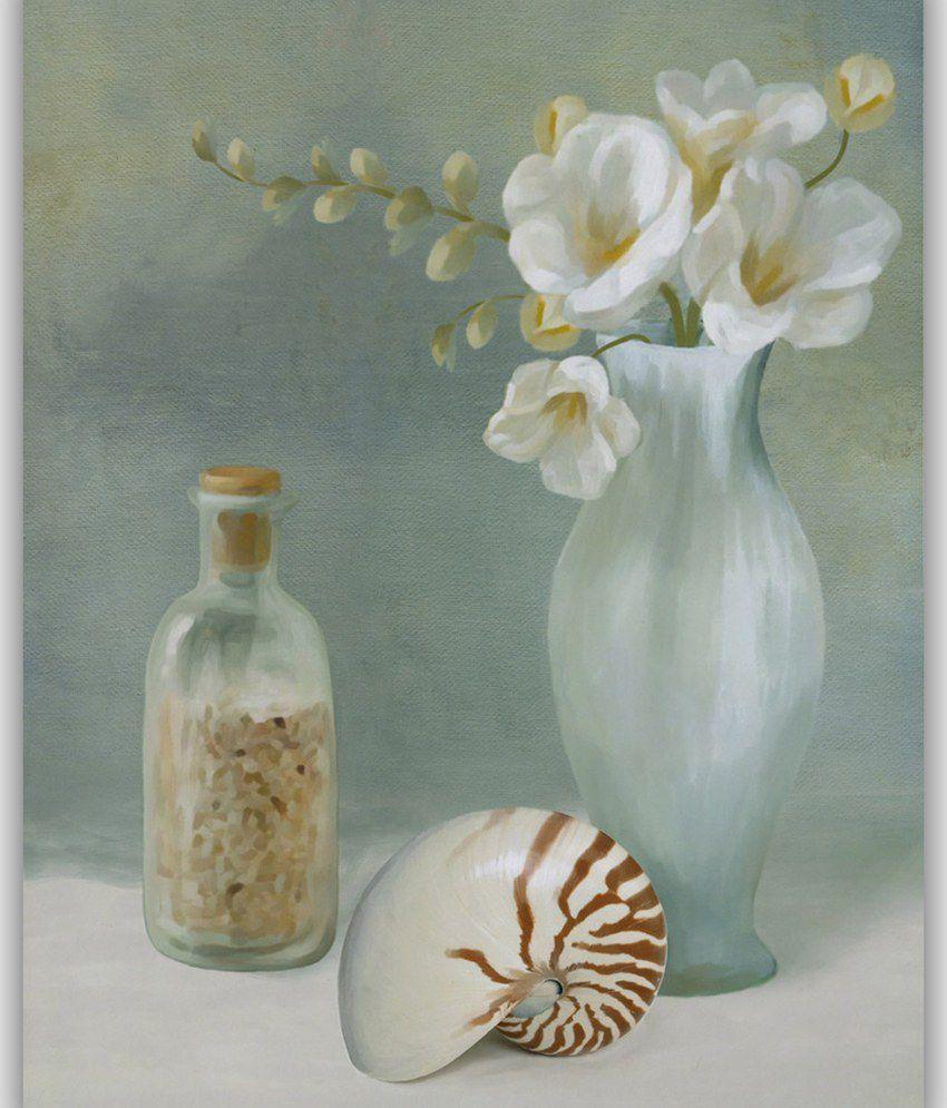 Vitalwalls White Flower Painting Still Life Painting Impressionism