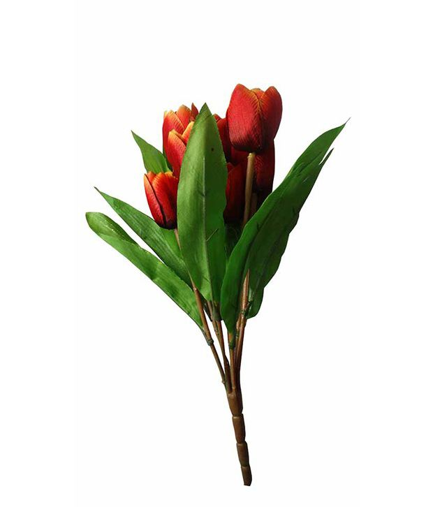 Aamore decor red artificial flower buy aamore decor red for Artificial flowers for home decoration india