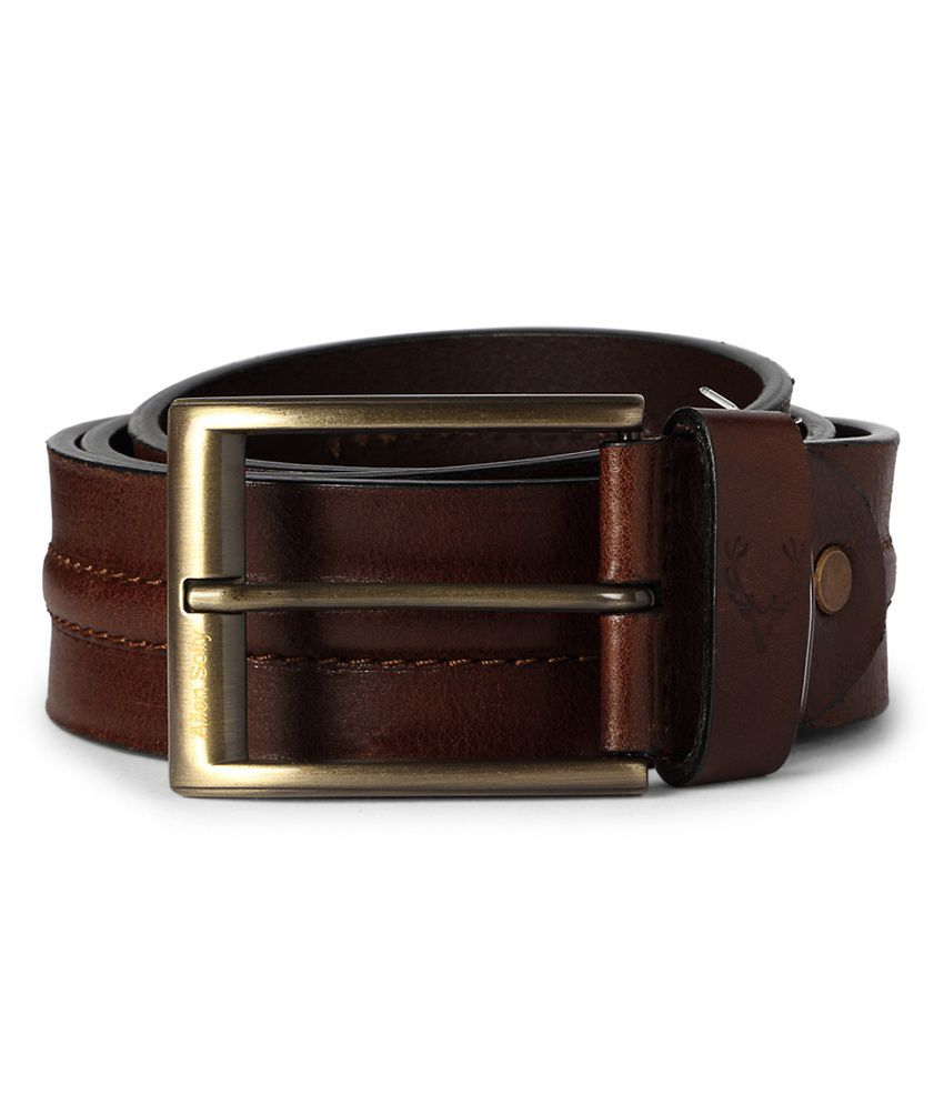 Allen Solly Brown Casual Leather Belt
