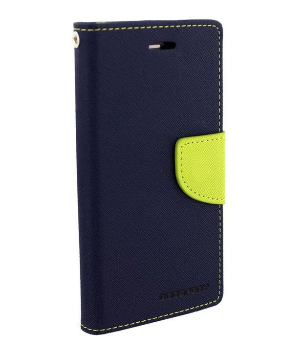 Uni Mobile Care Fancy Diary Card Wallet Flip Back Cover For Samsung Galaxy Grand 2 - Blue