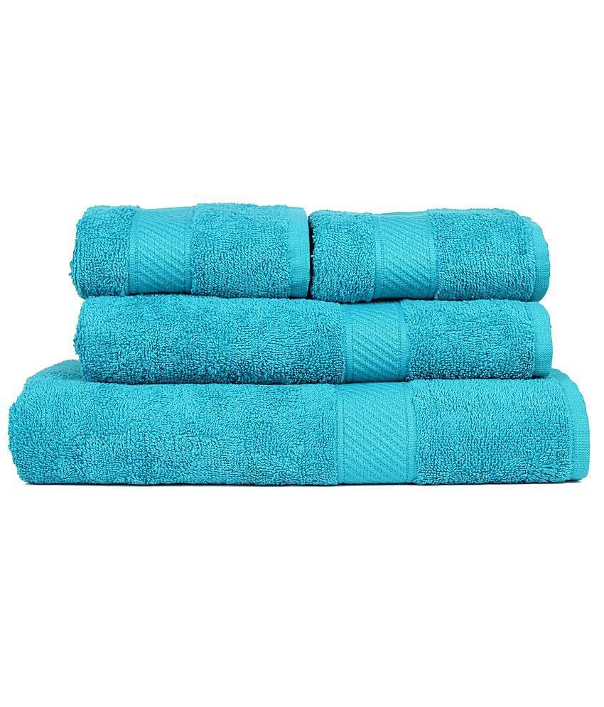 Trident Pink 4 Pcs Couple Bath Towel Set