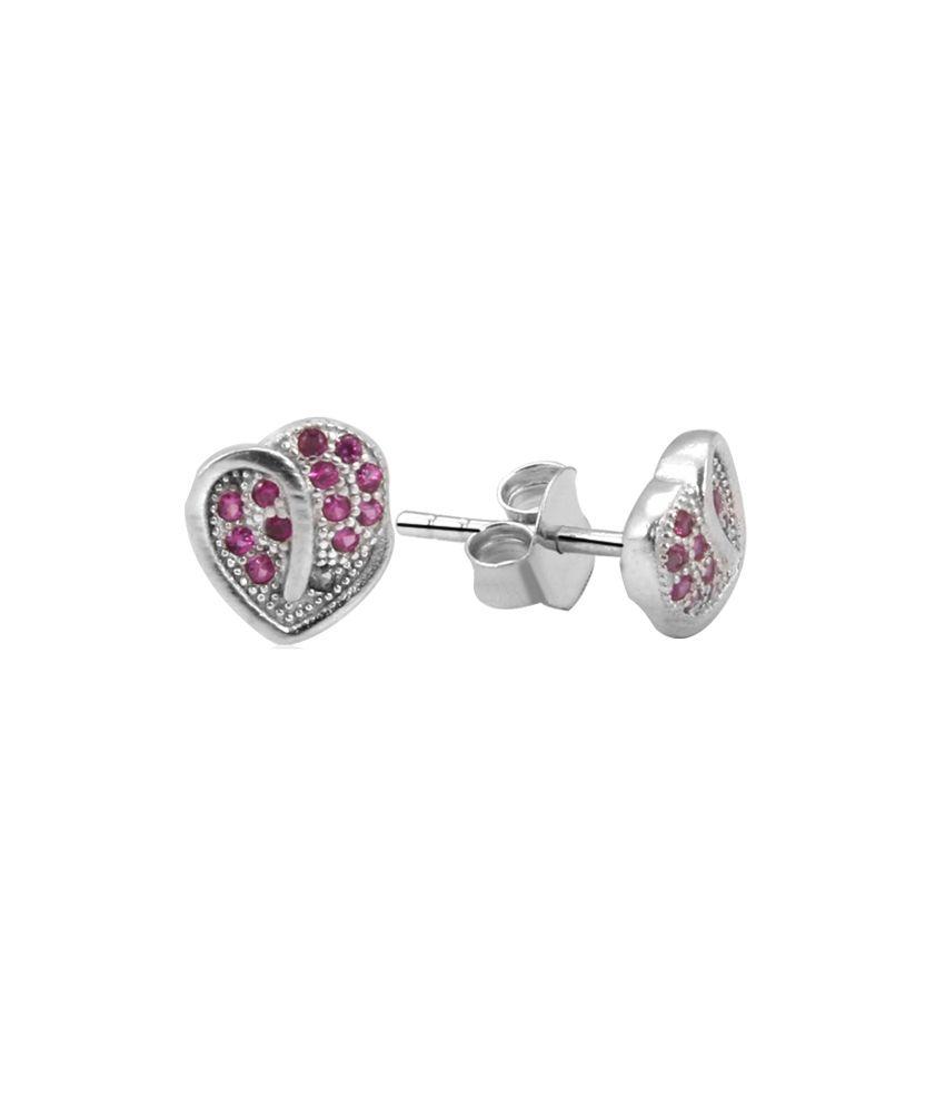 Payalwala 925 Sterling Silver Earrings with Swarovski Crystal Stones