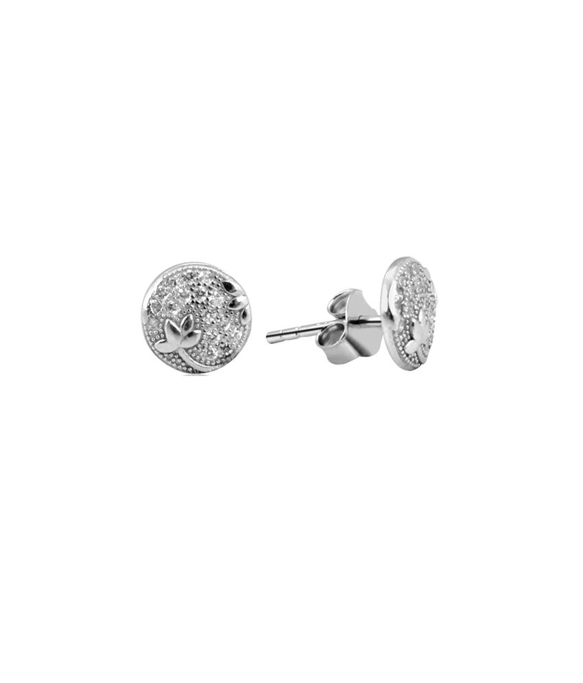 Payalwala 925 Sterling Silver Earrings with Swarovski Crystal Stones