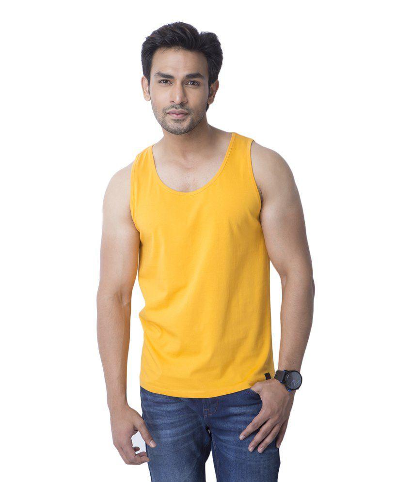 Cult Fiction Yellow Cotton T Shirt