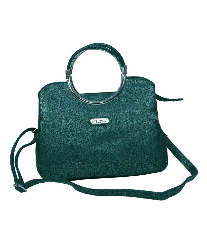 Elimier Green Shoulder Bag