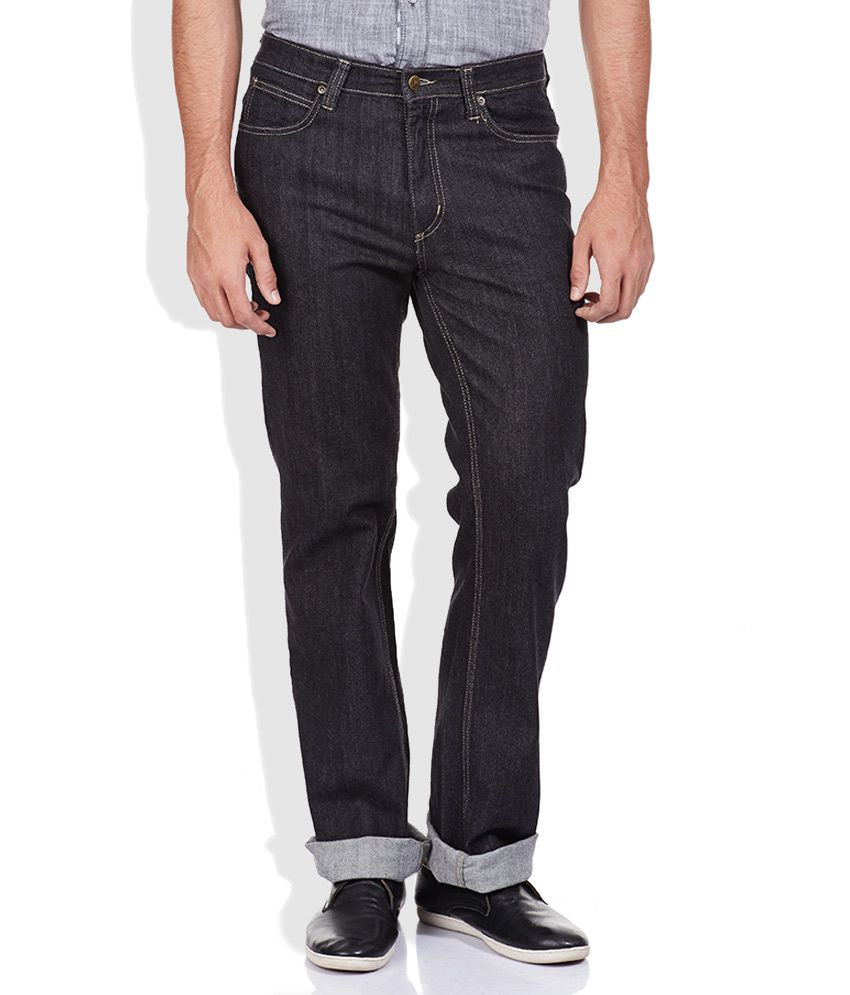 Lee Black Regular Fit Jeans