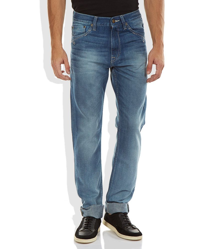Lee Blue Tapered Fit Jeans