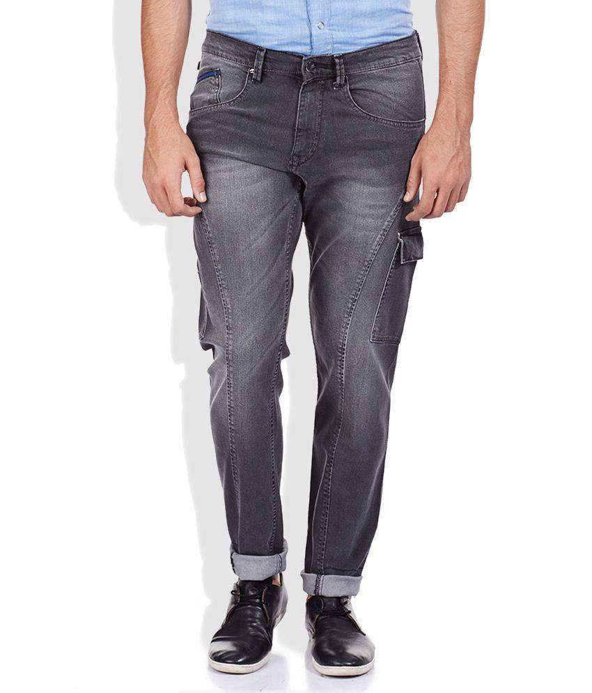 Lee Grey Light Wash Regular Fit Jeans