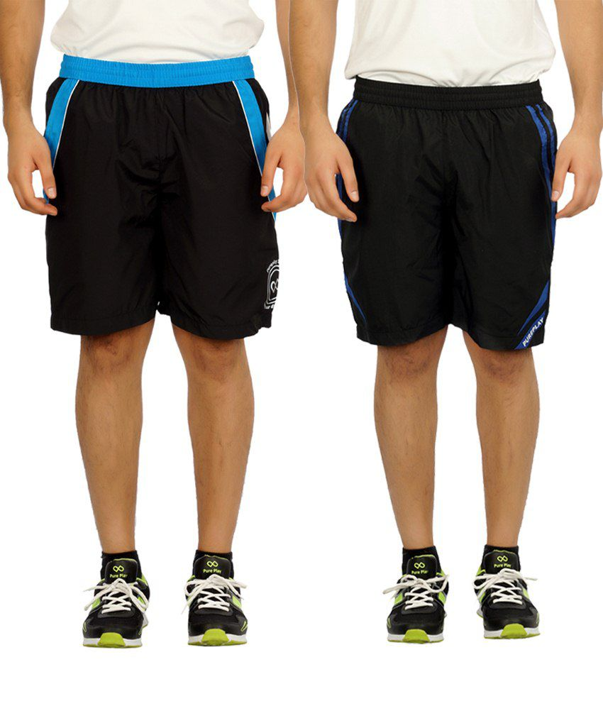 Pure Play Exclusive Black Running Shorts Pack Of 2