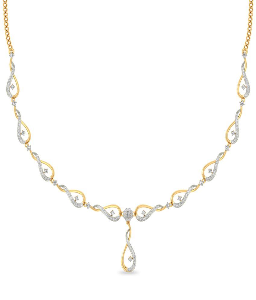 WearYourShine PC Jeweller 18KT Gold The Shayndel Diamond NECKLACE