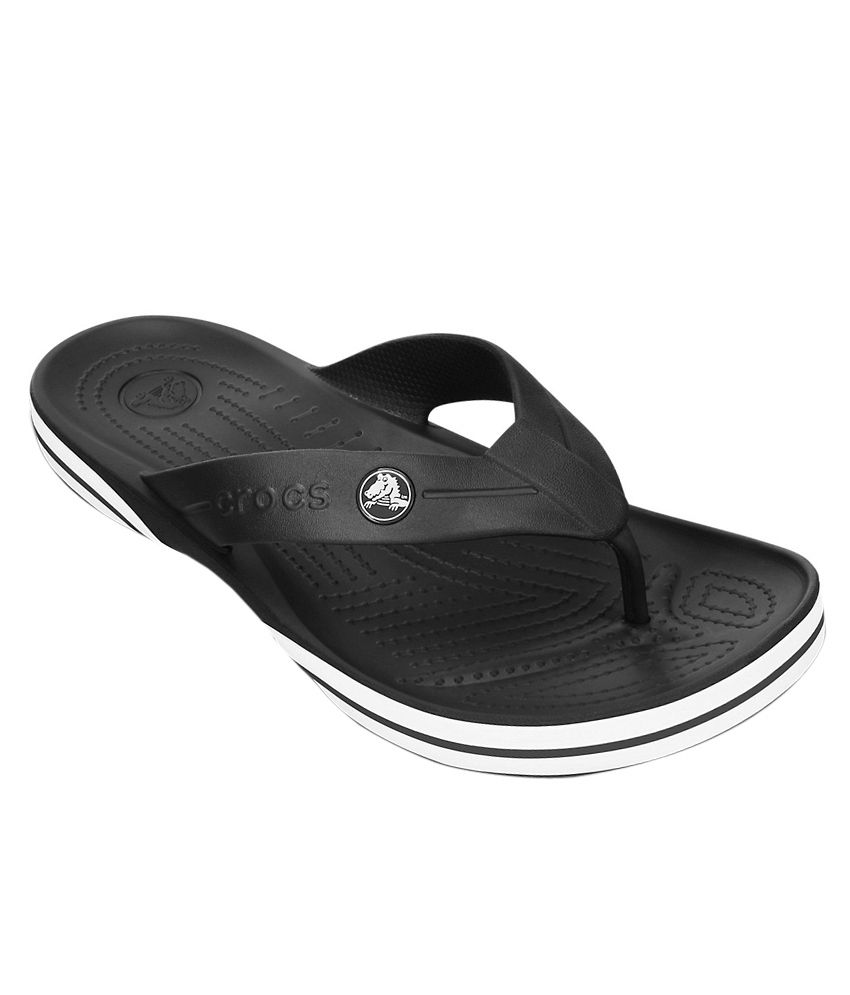 Crocs Relaxed Fit Croslite Black Flip Flops