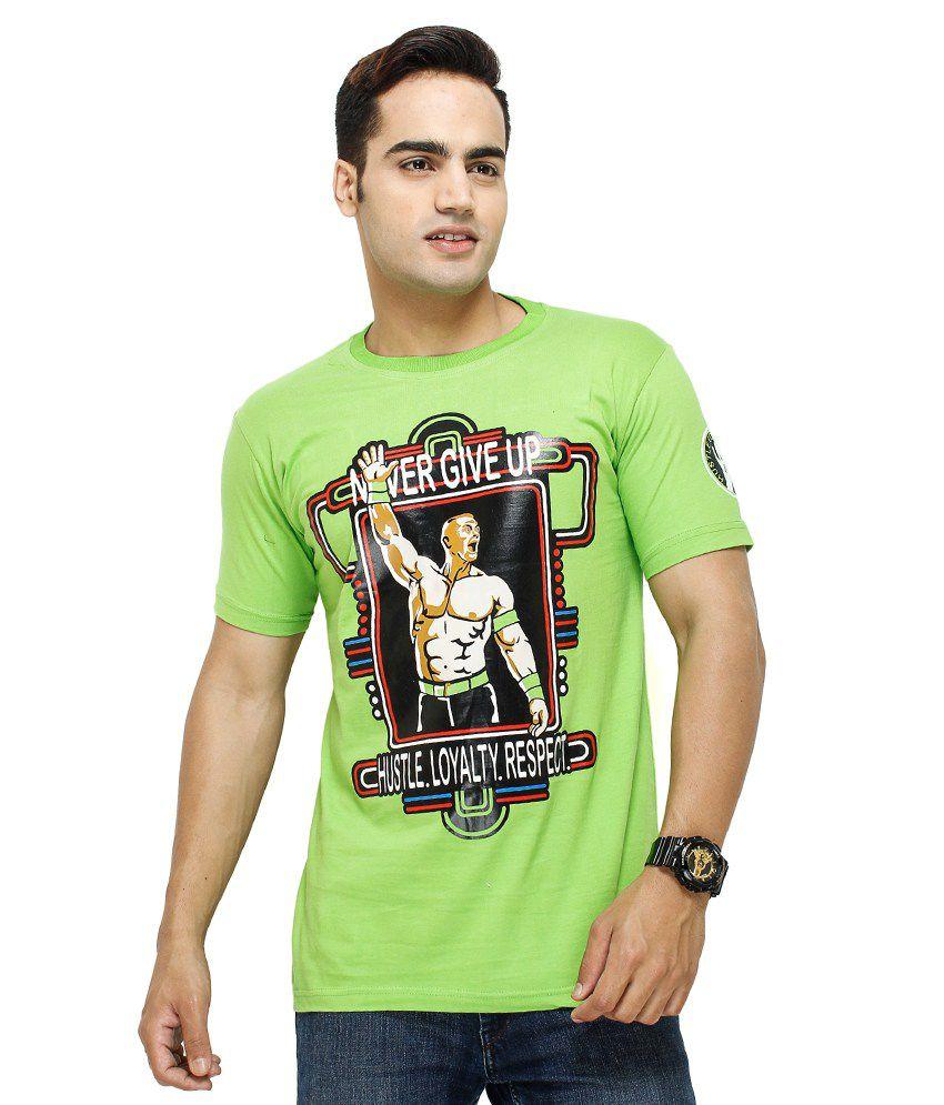Fashion Enterprises Green Cotton Blend Printed T-Shirt