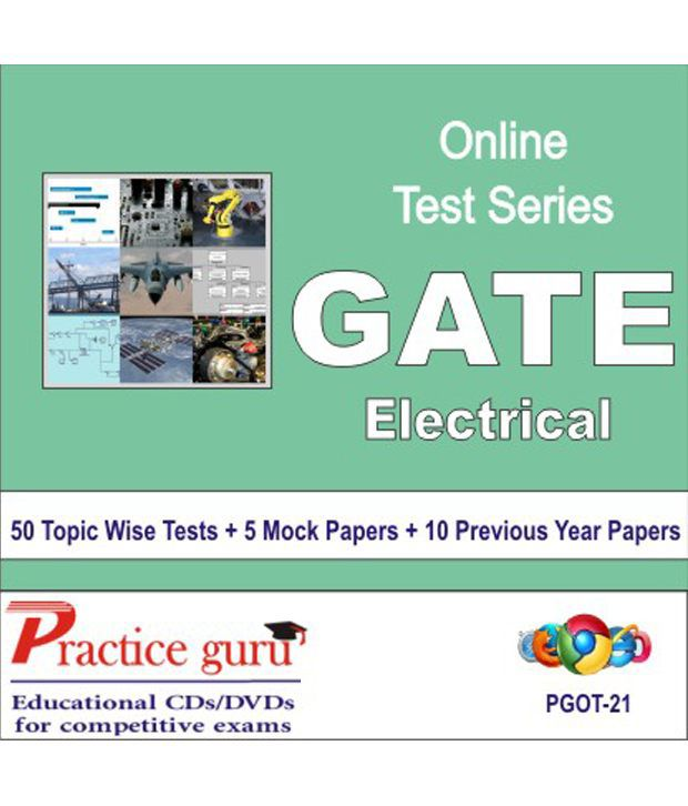 Latest Chapter Wise Tests + Mock for GATE - Electrical. Complete syllabus coverage - sure shot results!