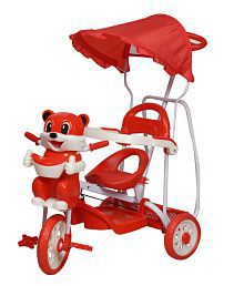 Love Baby Red Tricycle For Kids With Rocking Chair