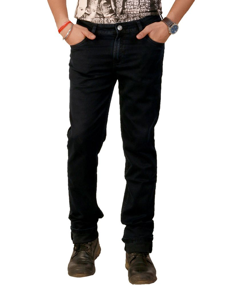 Carrie Jeans Blue Cotton Slim Fit Mens Jeans