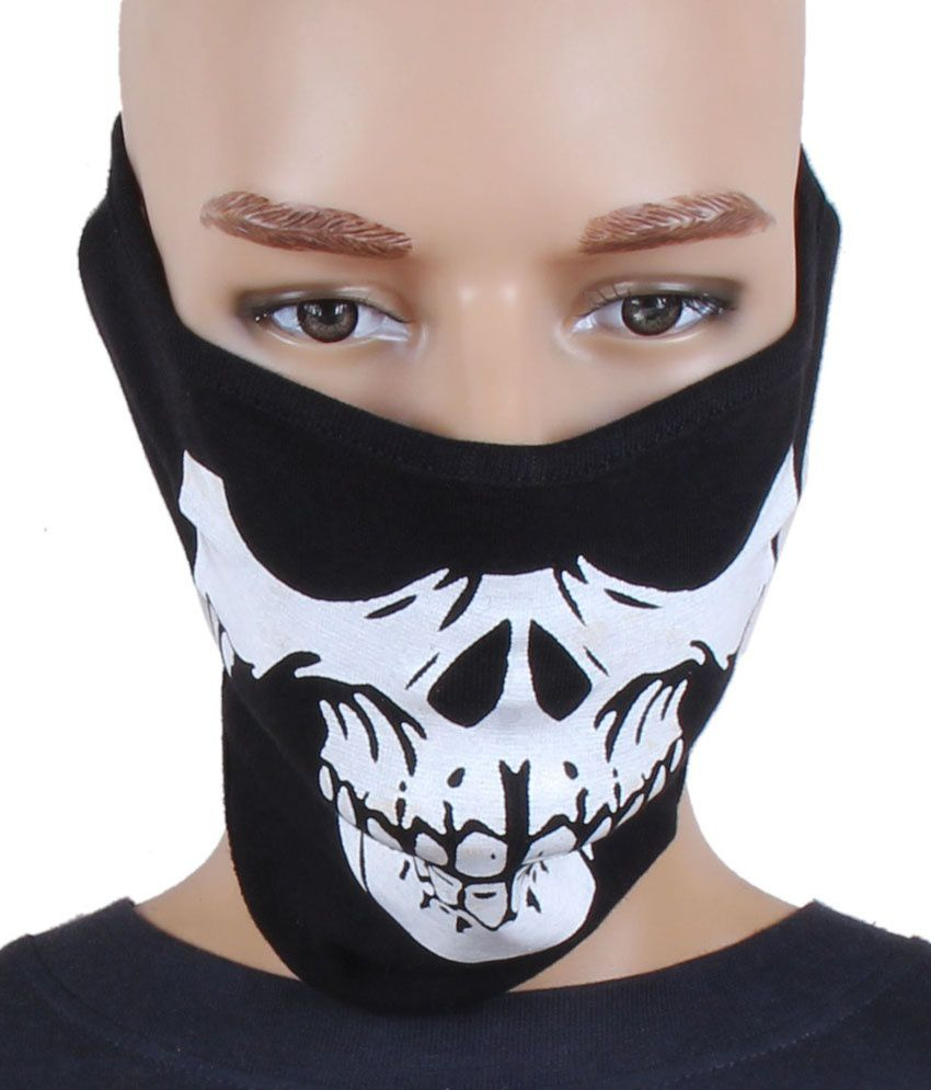 Jstarmart Ghost Face Black Face Mask And Mani Wrist Band Combo ...