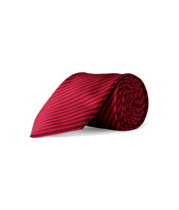 Louis Philippe Red Formal Broad Necktie