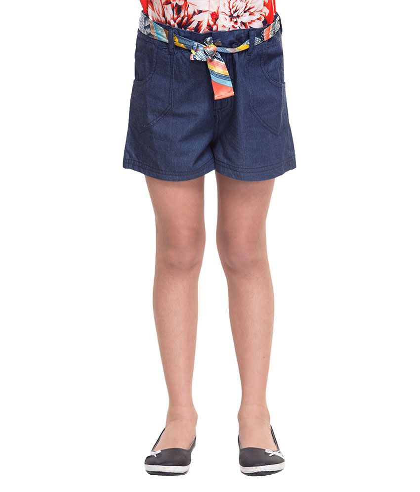 Oxolloxo Blue Cotton Shorts